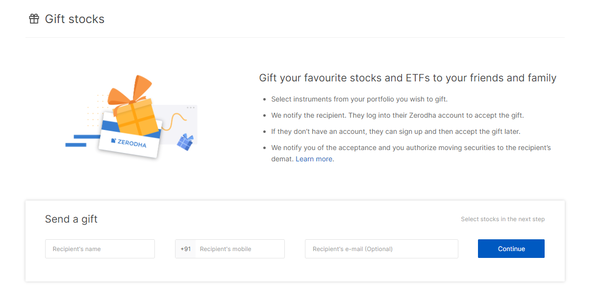 Now give gift stock and ETF to your friends and loved ones