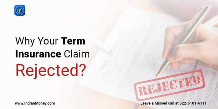 term insurance rejected